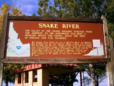 Snake River Marker image. Click for full size.