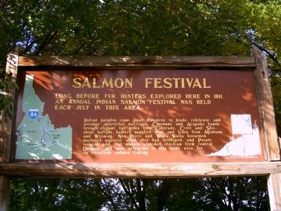 Salmon Festival Marker image. Click for full size.