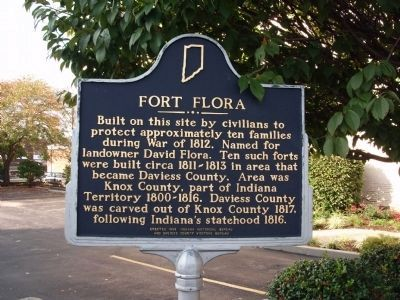 Looking South - - Fort Flora Marker image. Click for full size.