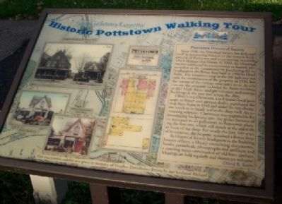 Pottstown Historical Society Marker image. Click for full size.