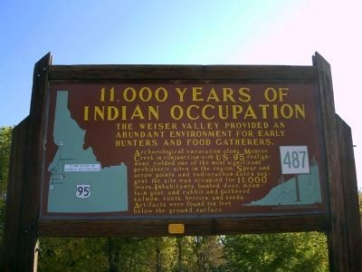 11,000 Years of Indian Occupation Marker image. Click for full size.