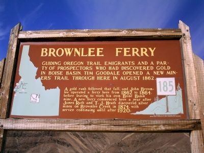 Brownlee Ferry Marker Photo, Click for full size