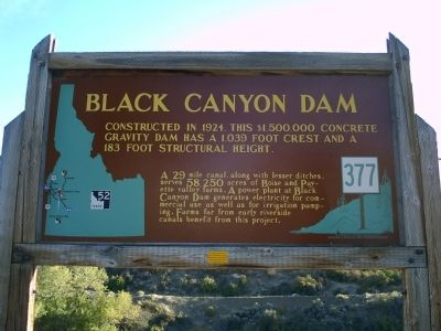 Black Canyon Dam Marker Photo, Click for full size