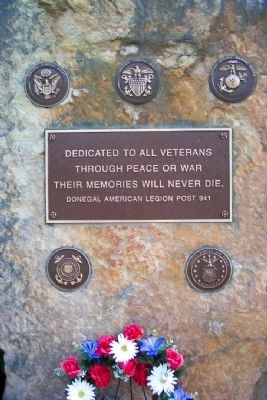 Donegal American Legion Veterans Memorial image. Click for full size.