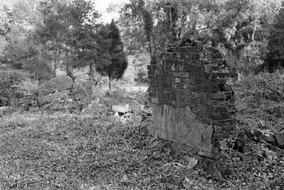 Old White Meeting House and Cemetery North wall ruins image. Click for full size.