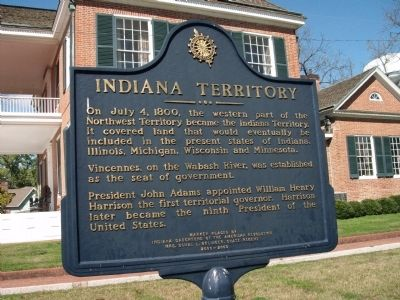 Obverse Side - - Indiana Territory Marker image. Click for full size.