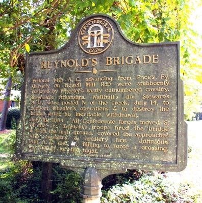 Reynold�s Brigade Marker image. Click for full size.