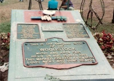 Woodstock Music and Arts Fair Marker Photo, Click for full size