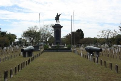 "Magnolia Cemetery "" Soldiers Ground"" , Confederate Memorial image. Click for full size."