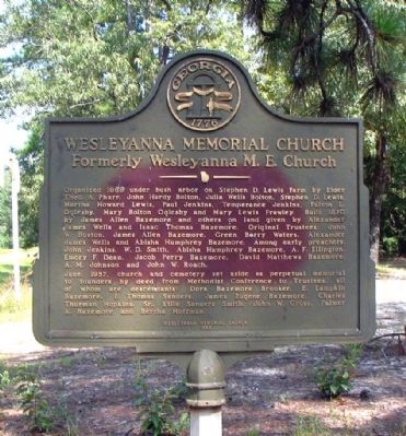 Wesleyanna Memorial Church Marker image. Click for full size.