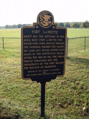 Wide View - - Fort LaMotte Marker image. Click for full size.