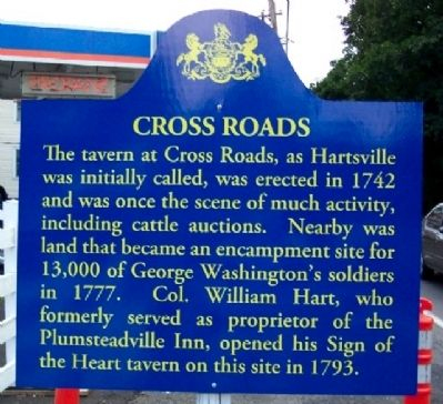 Cross Roads Marker image. Click for full size.