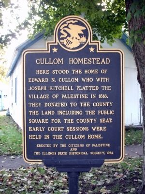 Cullom Homestead Marker image. Click for full size.