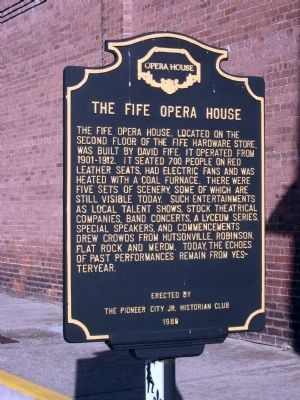 The Fife Opera House Marker image. Click for full size.