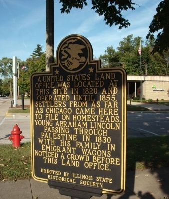 Another View - - United States Land Office Marker image. Click for full size.