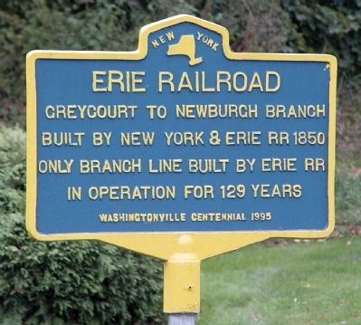 Erie Railroad Marker image. Click for full size.