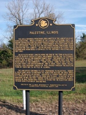 Palestine, Illinois Marker image. Click for full size.