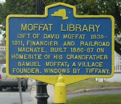 Moffat Library Marker image. Click for full size.