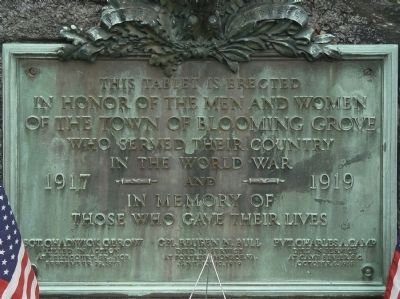 World War I monument Marker Photo, Click for full size