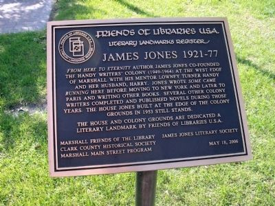 James Jones 1921 - 77 Marker Photo, Click for full size