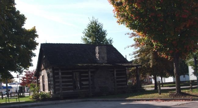 Plum Street Side - - Visitors Center Log Cabin Photo, Click for full size