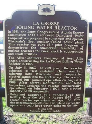 La Crosse Boiling Water Reactor Marker image. Click for full size.
