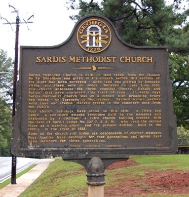 Sardis Methodist Church Marker image. Click for full size.