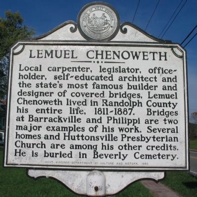 Lemuel Chenoweth Marker image. Click for full size.