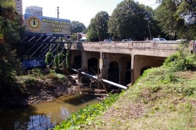 Peachtree Road Crossing Peachtree Creek Today image. Click for full size.