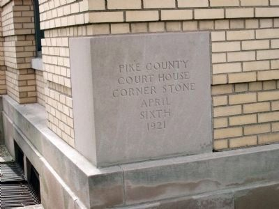 1921 Corner Stone of the Pike County Courthouse image. Click for full size.