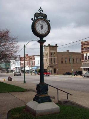 Pike County Courthouse Clock - Few Steps Away. . . image. Click for full size.
