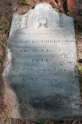 Thos. B. Rutherford Grave Stone image. Click for full size.