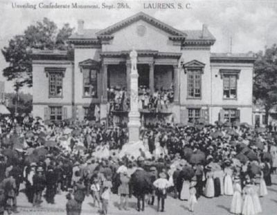 Laurens County Confederate Monument Dedication Ceremony image. Click for full size.