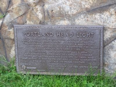 Portland Head Light Marker Photo, Click for full size