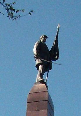 Top Statue - - Civil War Memorial image. Click for full size.