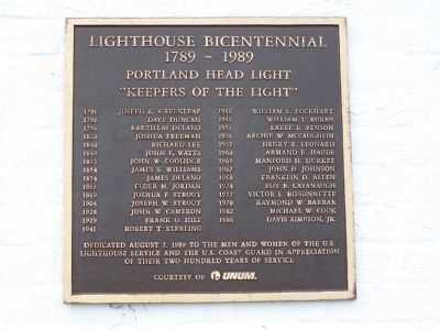 Lighthouse Bicentennial Photo, Click for full size