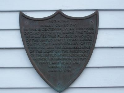 Coast Guard Day Plaque Photo, Click for full size