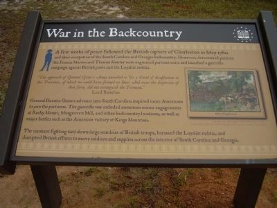 War in the Backcountry Marker image. Click for full size.