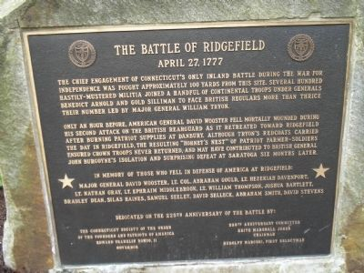 The Battle of Ridgefield Marker image. Click for full size.