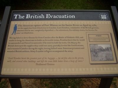 The British Evacuation Marker image. Click for full size.