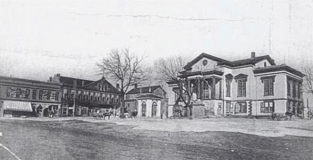 Laurens County Square -<br>Prior to the Erection of the Confederate Monument Photo, Click for full size