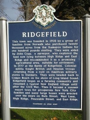 Ridgefield Marker Photo, Click for full size