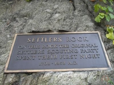 Settlers Rock Marker image. Click for full size.
