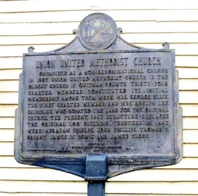 Union United Methodist Church Marker, Side 1 image. Click for full size.