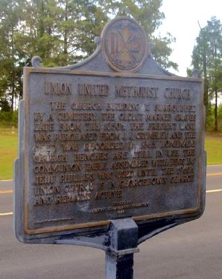 Union United Methodist Church Marker, Side 2 image. Click for full size.