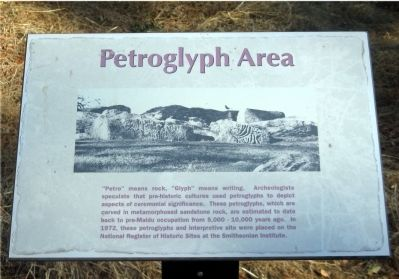 Petroglyph Area Marker Photo, Click for full size
