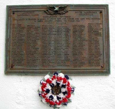 Middletown Township World War I Memorial image. Click for full size.