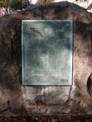 1921 Plaque - - American Revolution War Memorial - Edgar County Illinois Marker Photo, Click for full size