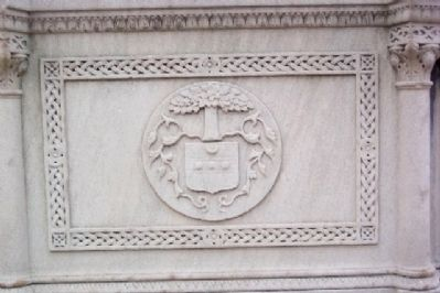 Bucks County Coat of Arms on World War Memorial Fountain image. Click for full size.