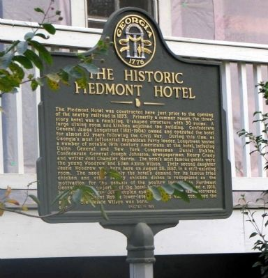 The Historic Piedmont Hotel Marker image. Click for full size.